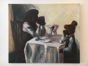 Oil Painting, Breaking Bread