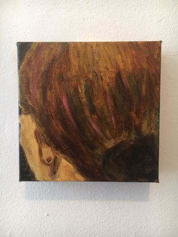 Oil Painting, She Waits