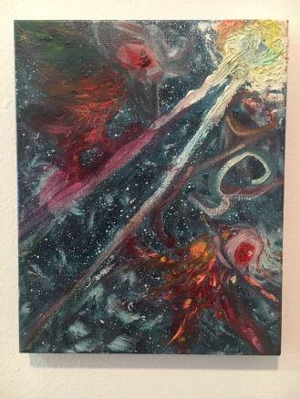 Oil Painting, Firebirds
