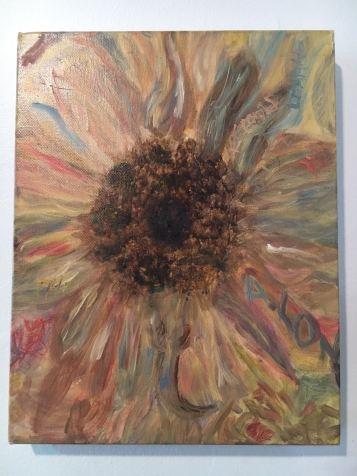 Oil Painting, Sunflower