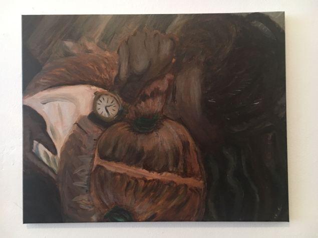 Oil Painting, Dad's Hug